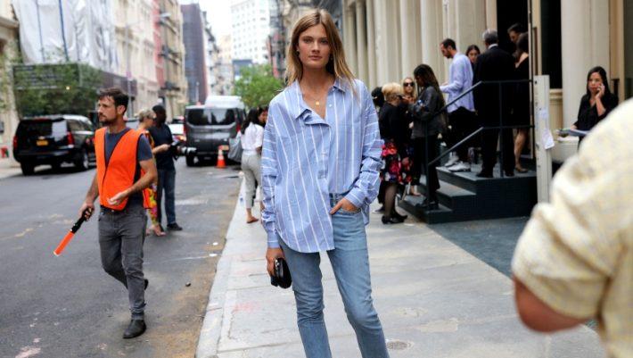 Φόρα το γαλάζιο σου πουκάμισο με τρεις τρόπους όλη την ημέρα