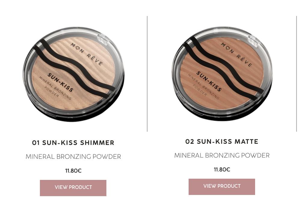 Mon Rêve   Φόρεσε τις χρυσές ακτίνες του ήλιου μέσα από την ολοκαίνουργια Sun-Kiss Mineral Bronzing Powder